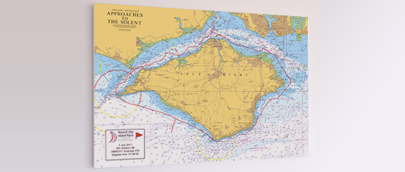 Map Of Uk Race Tracks.Round The Island Race Your Race Track As A High Quality Canvas Chart